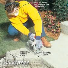 How To Cut Patio Pavers Without A Saw How To Cut Concrete With A Concrete Saw U2013 The Family Handyman