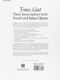 piano transcriptions from french and italian operas dover music