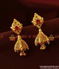 big rings design images Er395 gold plated imitation big ruby stone ear rings trendy jpg