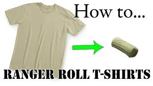 army packing hack how to army fold a t shirt basic training