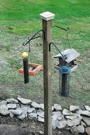 deck bird feeder pole build your own bird feeding station and