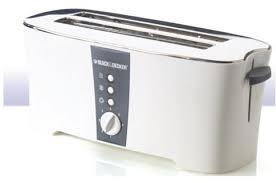 4 Slice Toaster White Black U0026 Decker 4 Slice Long Cool Touch Toaster White Et124 B5