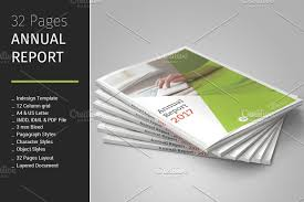 letter size brochure template 32 pages annual report template brochure templates creative market
