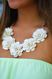big flower necklace images Big rose flower golden chain necklace rhinestone chain resin beads jpg