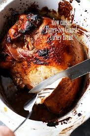 cooker honey soy glazed turkey breast diethood