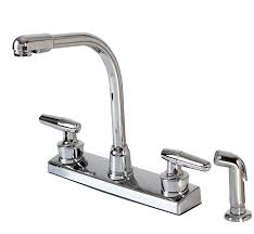 Kitchen Faucet Spray Captivating Sprayed Kitchen Faucet Showcasing Adjustable Handle