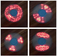 led fidget spinner with digital display 3 designs in 1
