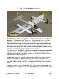 vtolt build instructions aircraft flight control system