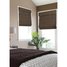 l shades by size home decorators collection espresso flatweave bamboo roman shade