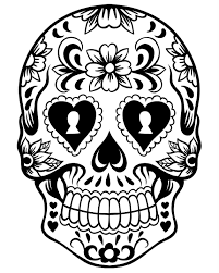 free sugar skull coloring page pic photo day of the dead coloring