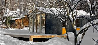How To Build A Cheap Cabin by Prefabricated Arched Cabins Can Provide A Warm Home For Under