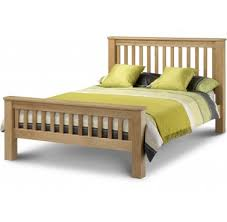 amsterdam super kingsize bedframe 6ft solid oak oak veneers