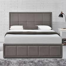 Birlea Ottoman Birlea Hannover Small Upholstered Grey Ottoman Bed