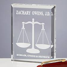 personalized paper weight gifts personalized scales of justice paperweight