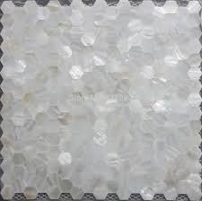 aliexpress com buy mother of pearl tile hexagon seamless on mesh