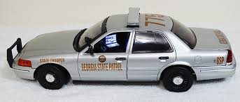 toy police cars with working lights and sirens for sale custom 1 18 gsp georgia state patrol ford crown vic police car with
