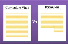 curriculum vitae cv vs resume difference between cv and resume with comparison chart key