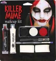 halloween prosthetic makeup kits killer mime makeup kit 373849 trendyhalloween com