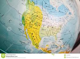 United Stated Map by United States Map On A Globe Stock Photo Image 41480599