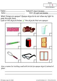 light and shadows lesson plans free unit 3f light and shadow printable resource worksheets for kids