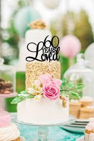 60 wedding anniversary 60th birthdayanniversary cake topper personalized 60 years