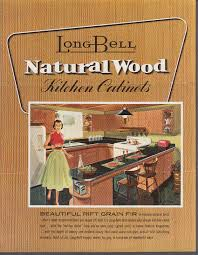 long bell natural wood kitchen cabinets sales folder 1955 longview