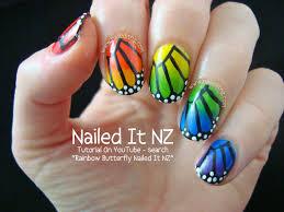 nailed it nz tutorial rainbow butterfly nail art