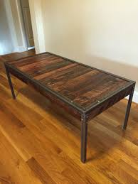 coffee table mixed pallet wood with angle iron coffee table total