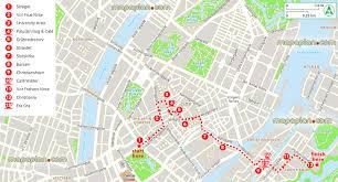 Copenhagen Map Copenhagen Map Copenhagen Latin Quarter To Christiania Walk