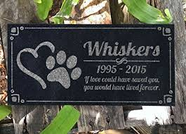 dog grave markers pet grave marker personalized dog paw heart pet