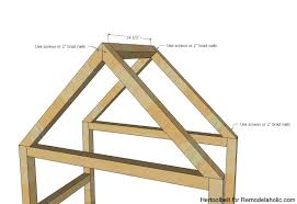 Plans To Build A Bunk Bed Ladder by Remodelaholic Diy House Frame Bookshelf Plans