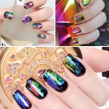 metallic nail foil wraps 10wraps metallic design nail foil uv gel nail stickers 4cm width