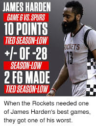 Game 6 Memes - james harden game 6 vs spurs 10 points ted season low i of 28 season
