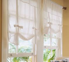 accessories simple and neat beige pattern cotton tied up window