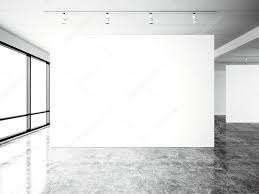 blank gallery wall picture exposition modern gallery open space blank white empty
