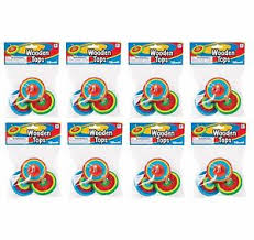 wooden party favors wooden spin tops wooden party favors 8 packs of 3 ebay