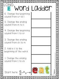 all about word ladders long vowel combinations and diphthongs by