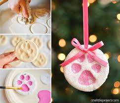 christmas ornaments baby paw print salt dough ornaments one project