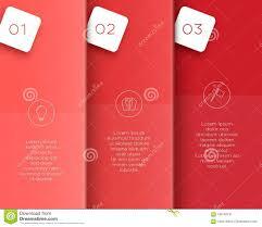 free printable vertical banner template vector 3d red vertical text banner template steps 1 to 3 stock
