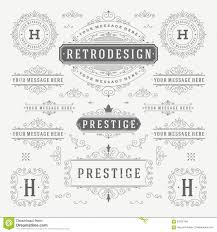 vintage vector ornaments decorations design stock vector image
