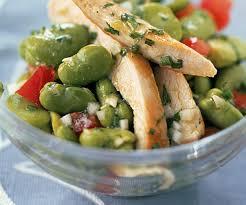 cuisiner blanc de dinde entrée rapide salade de blanc de dinde aux fèves et à la ciboulette