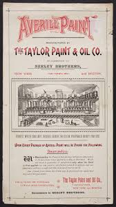 color sample for averill paint manufactured by the taylor paint