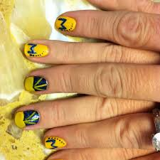 12 best michigan nails images on pinterest football nails sport