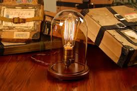 Edison Bulb Table Lamp Edison Bell Jar Lamp Dan Cordero