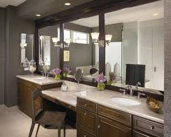 Bathroom Vanity With Makeup Station Amazing Double Vanity With Makeup Table Attractive Clubnoma Com