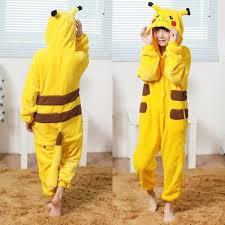 Halloween Costumes Pikachu Kids Cosplay Pokemon Costumes Yellow Pikachu Pajamas Girls