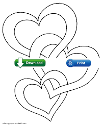 printable heart coloring pages itgod me
