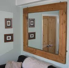 White Framed Mirror Rustic Wooden Framed Mirror Design For White Wall Part Of