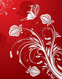 abstract flower pattern with butterfly element for design vector