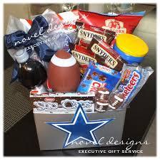 snack basket delivery custom football snack gift basket cowboys football www